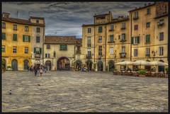 Lucca - Piazza dell'Anfiteatro( Press L) (Niels J. Buus Madsen) Tags: photoshop canon one adobe elements pro 5d hdr niels topaz madsen jrn buus cature photmatix efex holstebro tvis