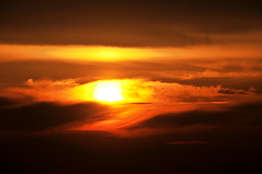 sunset on 01 06 2013 inversion (houstonryan) Tags: blue winter light sunset sky orange snow cold field weather utah ryan snowy air low january bad houston hills cedar area inversion icky soupy mucky 2013 houstonryan