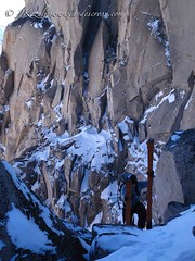 Finishing a long boot pack in the Patagonian Andes