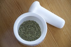 Fennel seeds (@abrunvoll) Tags: food cooking spice seed mortar fennel fr krydder fennikel