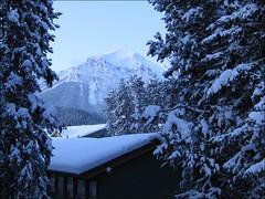 A New Dawn (bretton98) Tags: trees snow canada mountains cold sunrise dawn alberta lakelouisevillage ixus85is bretton98 davidwhitephotography