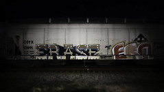 Erase  Ern (Revise_D) Tags: railroad by graffiti boo rails graff gac goonies tagging freight erase revised booyah ern yah fr8 gns gack benching erner fr8heaven fr8aholics revisedesigns