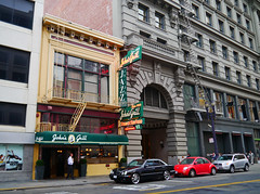 San Francisco, California - USA (Mic V.) Tags: california ca city usa building home sign architecture america vintage john restaurant us salad san francisco downtown neon nightly united jazz headquarters pasta 63 since grill falcon seafood states maltese cocktails society johns steaks 1908 hammett dashell
