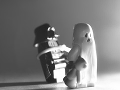 hey - is this the bad guy? (Kalexanderson) Tags: toys starwars nikon lego teddy ghost teddybear darthvader caught