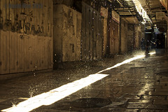 The Spell (David Mor) Tags: morning sun snow water sunshine alley availablelight magic jerusalem fairy oldcity