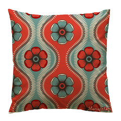 Pillow with floral fashion pattern (Slanapotam) Tags: wallpaper abstract flower color green art texture geometric floral fashion contrast dark circle paper print square design colorful pattern dress graphic background decoration style wrap symmetry retro diamond petal pillow textile fabric jade round backdrop symmetrical cloth shape simple emerald vector seamless repeat endless viridian rhombus regular