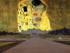 Upper Belvedere_The_Kiss (Urwinrom) Tags: vienna gimp masks layers belvedere gustavklimt