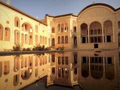 Palace in the water (German Vogel) Tags: arch architecture asia courtyard iran isfahan islamicrepublic kashan middleeast palace pool reflection tabatabai tabatabaihouse traditional traditionalhouse westasia gettyimagesmiddleeast baroque decoration beautiful waterreflection travel tourism