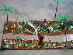 Battle of Saleucami- Lego (Chris_cobra) Tags: star starwars republic order lego evil battle 66 clones cis wars clone confederacy commander triad droids atap neyo saleucami