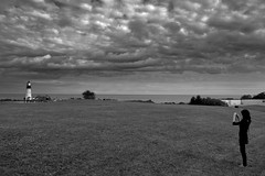 Fire in the Sky (7Neretva) Tags: bw lighthouse white black clouds maine svjetionik