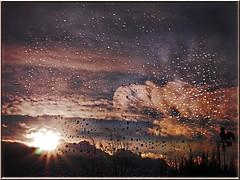 A rainy day in winter (Ostseeleuchte) Tags: winter light sky germany deutschland rainyday himmel wolken regentropfen fensterscheibe regenregentag