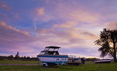 Misplaced (Kyle Kruchok) Tags: county sunset sky tree field canon eos rebel boat l t3 1740mm yamhill cropsensor