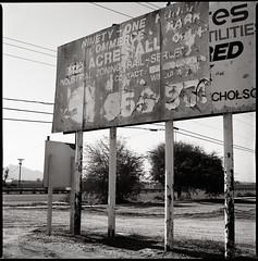 Phoenix, AZ (moominsean) Tags: arizona 120 phoenix zeiss fuji desert billboard bronica 80mm s2a acors