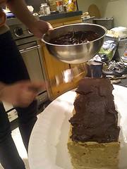 Ellen's Dacquoise (jjldickinson) Tags: casiogzonerock food cooking dessert wrigley dacquoise cake pastry meringue chocolate ellendickinson longbeach