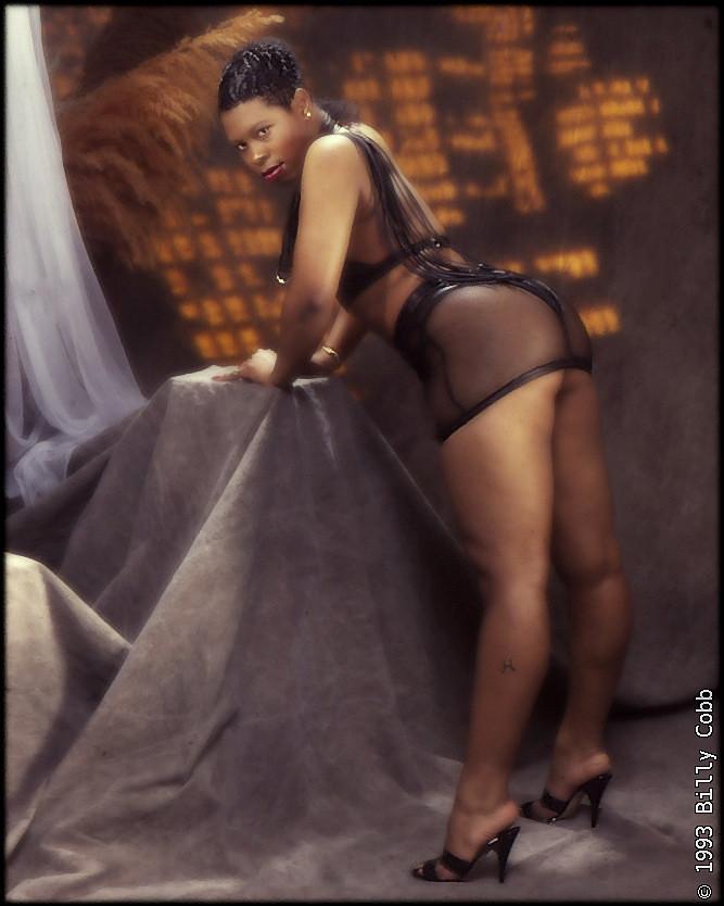 Ebony fucked in heels