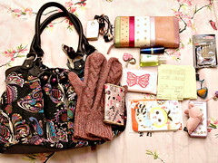 What's in my bag?  Feb.9 (aya1gou) Tags: whatsinyourbag whatsinmybag rilakkuma