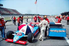 Michigan 500 July 1983 (RichardDemingPhotography) Tags: pits racetrack nikon michigan indy fast tires international 500 racers mile drivers pitlane racecars stp film35mm racetracks racecardrivers michiganinternationalspeedway carsrace indycars absolutemichigan ajfoyt cartindy gordonjohncock racerace mearsmichigan speedwayracing carsmichigan indycardrivers indianapolis500winner indianapolisracecars filmslidestransparenciesrace tiresgarageshelmets carsunserrick driverspenskejohncockgordon johncockjim halljohnny rutherfordstppitstops