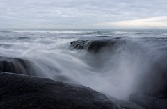 16-2-2013 (Copperhobnob) Tags: sea sky coast sand rocks waves explore stcombs stcombsbeach poty13l