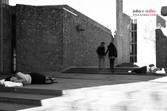 Rachael and Ricarda, Sleep (avmus) Tags: sleeping people usa white black floral girl vintage holding hands memorial couple dress boots sleep broadway pillow sidewalk dresses memory yale crosswalk checkered sleepsleeping