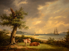 Thomas Birch - The Narrows New York Bay, 1812 at de Young Museum of Fine Arts - San Francisco CA (mbell1975) Tags: sanfrancisco california ca new york museum painting de landscape bay san francisco gallery museu unitedstates thomas fine arts young muse calif musee m american birch museo northern narrows muzeum 1812 finearts the mze museumuseum