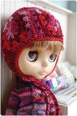 Para in granny helmet (megipupu) Tags: handmade helmet blythe granny megipupu
