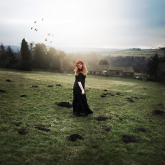 Nothing Gold Can Stay (Rebecca Bentliff) Tags: sunset england sky sunlight selfportrait nature birds countryside yorkshire literature robertfrost fields goldenhour poerty rebeccapalmer