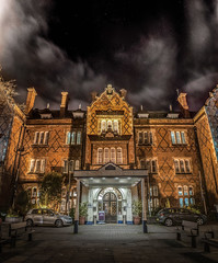 North Stafford Hotel [EXPLORED] (Raven Photography by Jenna Goodwin) Tags: light sky car night clouds stars photography hotel long exposure north stokeontrent staffordshire stoke stafford 18mm vertorama