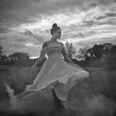 These things sent to dance across the room (martinfowlie) Tags: trees cambridge sunset woman white mist girl beautiful hair neck dress dancing dusk smoke ethereal shoulders underworld cambridgeshire crazycrazycrazy pearlsgirl