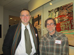 Associate Professor of Studio Art Michael Eble and Mark Knierim