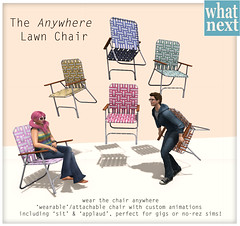 {what next} The Anywhere Lawn Chair Preview (WinterThorn) Tags: winter arcade secondlife thorn anatra gacha franklee {what next}