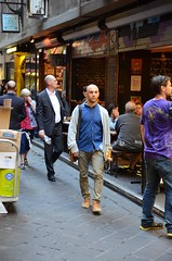 Smug guy - Centre Place (avlxyz) Tags: alley streetphotography australia melbourne victoria lane laneway centreplace melbournevic
