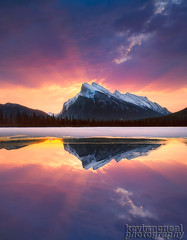 Mt Rundle Sunrise Banff National Park (kevin mcneal) Tags: winter canada reflection sunrise mount alberta rundle banffnationalpark