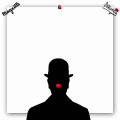 RNP 06 (OBJECTIVE-MAN) Tags: red white black rot art nose artwork kunst magritte nase schwarz kunstwerk weis umris renmagritte