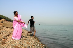 Growing Together......With Stone Skimming (pallab seth) Tags: life travel india tourism fun tour candid joy bondage attachment relationship bond bengal motherandson stoneskipping stoneskimming maithon