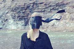 Identity Lost (Alaina Yuresko) Tags: black loss river lost rocks wind identity ribbon