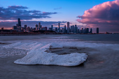 Iceberg (matt_frankel) Tags: street city cloud lake chicago tower ice st 30 landscape frozen illinois nikon long exposure downtown michigan sears jetty il nd iceberg hancock nikkor trump f28 willis 31st density neutral 2470mm d90 10stop