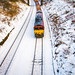 Snowed toy train