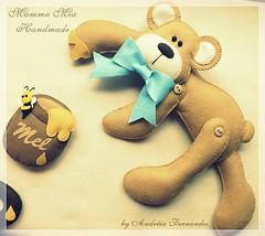Ursinho enfeite de porta (Mamma Mia Handmade) Tags: felt infantil feltro maternidade enfeite