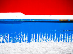 rwb (miemo) Tags: blue winter red sea white abstract ice colors finland helsinki europe ship olympus hull omd em5 panasonic100300mm