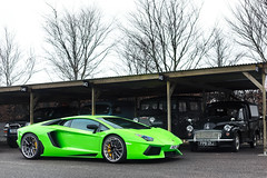 Riced. (Alex Penfold) Tags: green wrapped peter rims lamborghini goodwood lambo aftermarket tuned saywell aventador lp700