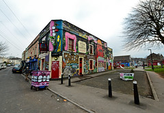 A colourful pub for colourful people..... (Dafydd Penguin) Tags: street art bristol nikon banksy sigma wideangle superwideangle d600 sigma14mm
