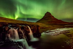 Wonders of Iceland (Dan Ballard Photography) Tags: light green painting stars landscape photography lights waterfall iceland gallery photos images best aurora northern
