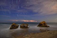 Holong Coast  (Vincent_Ting) Tags: rocks beach nightscape     coast  cloudscape  startrails