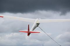GEF - Ka 6CR Winch Lanch (mme1998) Tags: gef gdgef ka6cr k6cr k6 glider sailplane pngc portsmouthnavalglidingclub airfield cumbria edensoaring winchlaunch airplane nikon d3300 dslr aviation