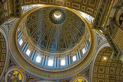 Natural Light (Harry2010) Tags: vaticancity stpetersbasilica dome sunray art column windows