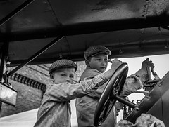 Brothers in Arms (Dire Straits) (ian.emerson36) Tags: steam transport tractionengine driver festival blackwhite machine indusrty fowler ale beer canon portrait boys
