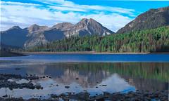 Mount Timpanogos. Silver Lake Flat. Utah. (Jeff in Henderson) Tags: mount timpanogos silverlakeflat utah wasatch mountains forest water pond landscape summer alpineloop