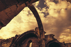 Monastery Ruins (davit.andreasyan) Tags: 500px church architecture building travel sky clouds sunset sun light summer beautiful beauty ruins arch architectural europe armenia old religion tourism stones sepia photography photo
