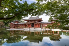 Byodoin Temple (Kostas Trovas) Tags: hdrfromoneraw asia reflection walking canon byodoin trees ef1740f4 beautiful travel 6d temple kyoto japanese frame japan traditional