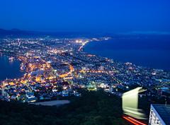 Hakodate ropeway (ferrosplav) Tags: hakodate night ropeway blue hour long exposure